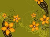 花の抽象的な背景 — ストックベクタ