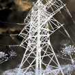 Mystical power lines — Stock Photo