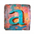 Letter A — Stock Photo