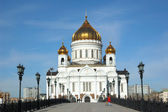 Temple of Christ our Saviour in Moscow — Stok fotoğraf