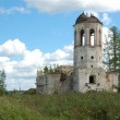 Destroyed towers of ancient monastery — Stock Photo