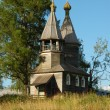 Ancient russian wooden country chapel — Stock Photo