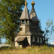 Ancient russiwooden country chapel — Stock Photo #1223359