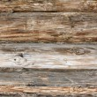Log country house wall - Stock Photo