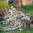 Pile of firewood — Foto Stock