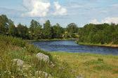 Curva de rio — Foto Stock