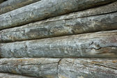 Old log wall background — Stock Photo