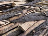 Stapel van houten planken — Stockfoto