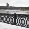 Winter view of Moskva-river - Stock Photo