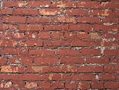 Red colored brick wall background — Stock Photo
