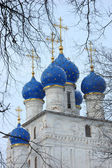 Church cupola in Kolomenskoe, Russia — Stock Photo
