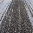 Stock Photo: Asphalt road background in winter
