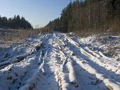 Zmrzlé zemi silnici — Stockfoto