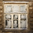 Stock Photo: Window of abandoned country house
