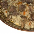 Plov - Uzbek national dish — Stock Photo