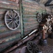 Courtyard of traditional russian farm - Stock Photo