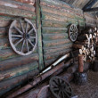 Stock Photo: Courtyard of traditional russifarm