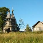 Ancient wooden chapel — Stock Photo
