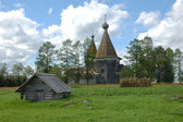 Ancient wooden russian country church — Stock Photo