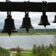 Bells in ancient belfry — Stock Photo