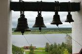 Bells in ancient belfry — Stock Photo