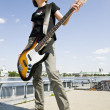 Stock Photo: Bass player