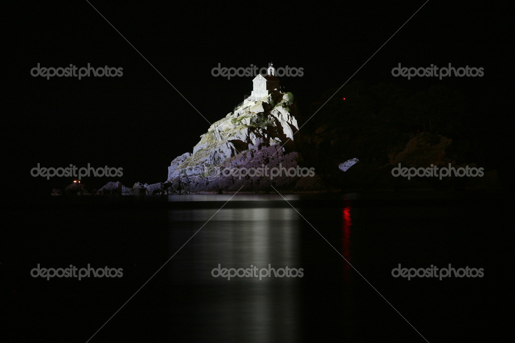 Sveti Nedelja and Katic islands at night  Stock Photo #1113536