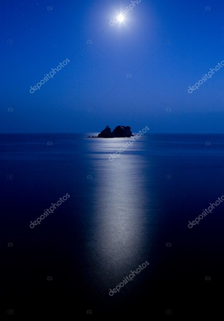 Sveti Nedelja and Katic islands at night — Stock Photo #1113562