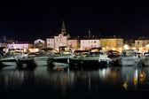 Night city Budva. Montenegro — Stock Photo