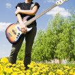 Bass guitar player — Stockfoto