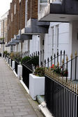 White terraced houses — Stock Photo