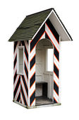 Old guard cabin isolatedon white — Stock Photo