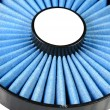 Blue air filter - Stock Photo