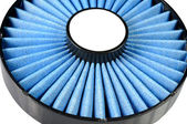Blue air filter — Stock Photo