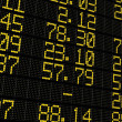 Stock Photo: Stock exchange board