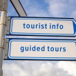 Tourist information, guided tours signs - 