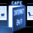 Royalty-Free Stock Photo: Inernet cafe