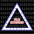 File infected warning - Stock Photo