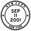 Nine eleven new york post stamp — 图库照片