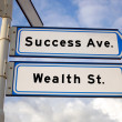 Success ave. and wealth st. — Stock Photo