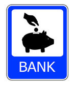 Bank teken — Stockfoto