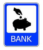 Znak banku — Zdjęcie stockowe