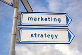 Marketing and strategy — Stock Photo