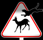 Funny road sign — Stock Photo
