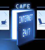 Inernet cafe — Stock Photo