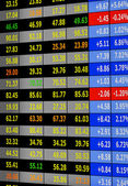 Stock exchange board — Stock Photo