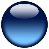 Glowing blue ball — Stock Photo