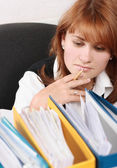 Woman in office search a file — Stock Photo