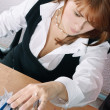 Woman in office search a file — Stock Photo #1194495
