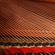 Closeup of a piano inside — Stok fotoğraf